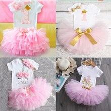 Это мой первый день рождения, наряды для маленьких девочек, платье для вечерние, детская пачка, одежда для маленьких девочек, комплекты для м...