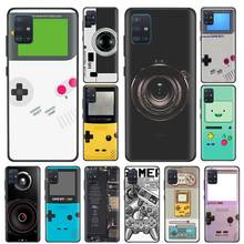 Game Boy Game Box print Cases for Samsung Galaxy A51 A91 M51 A71 A01 A11 A31 A41 M11 M21 M31 Black Silicone Phone Cover waves ocean water case for samsung galaxy a51 a71 m31 a41 a31 a11 a01 m51 m21 m11 m40 black soft phone cover fundas