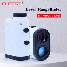 Wyświetlacz teleskop dalmierz laserowy 400m dalmierz laserowy 7XMonocular do golfa polowań dalmierz laserowy miarka ruletka