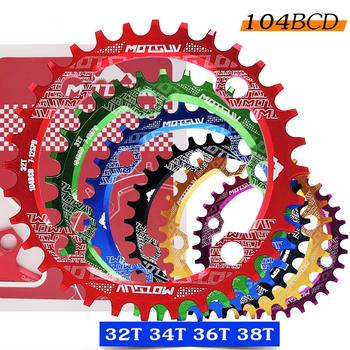 Bicycle Crank 104BCD Round Shape Narrow Wide 32T/34T/36T/38T MTB Chainring Bicycle Chainwheel Bike Circle Crankset Single Plate fouriers bicycle mountain bike mtb oval crankset chainring chainwheel 34t 48t aluminum bcd104 gear