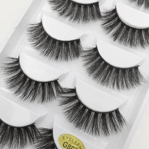 Image 3 - Wholesale Eyelasehes 50 pairs 3D Mink Hair False Eyelashes Natural/Thick Long Eye Lashes Wispy Makeup Beauty Extension Tools