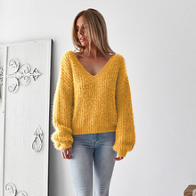 цены Maternity New Open Back Loose Sweater Sweater Clothes for Pregnant Women Fall Wool Pullover Autumn Winter Top Warm Women
