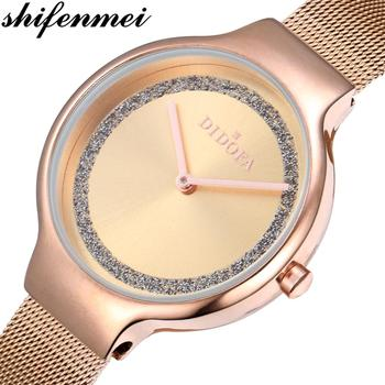цена Shifenmei Watch Women Stainless Steel Quartz Watches Ladies Top Brand Luxury Fashion Clock Simple Wristwatch Relogio Feminino онлайн в 2017 году