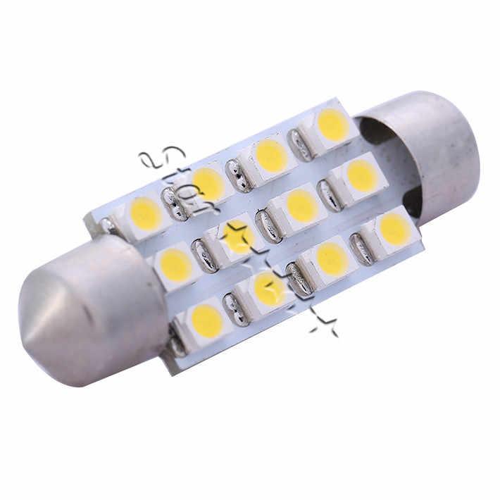 2 قطعة 39 مللي متر 3528 SMD 12 LED السيارات الداخلية قبة فسطون السيارات القراءة سيارة Led مصباح سيارة التصميم 12 فولت وقوف السيارات لفورد