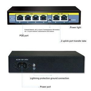 Image 3 - 6 Port Ethernet Switch 48V 96W Mit 4 Port POE + 2 UPlinks 100 Mbps Schalter interne Backplane Bandbreite 1,2G Full duplex