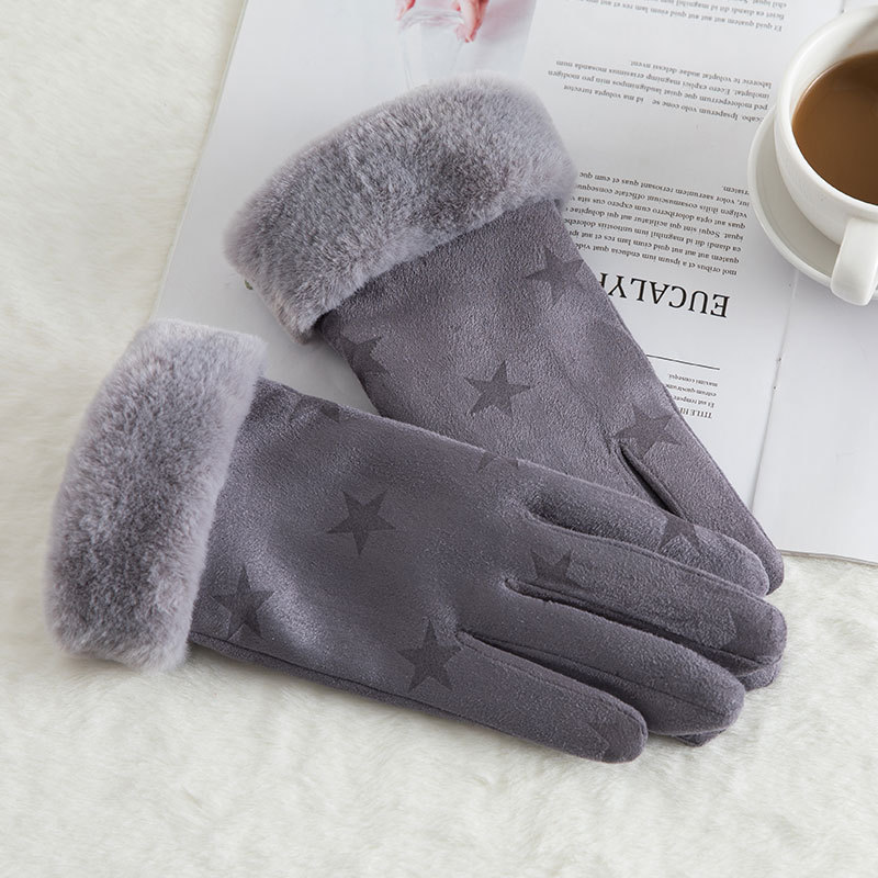 CHAI USA Glove Winter Mens Touch Screen Plus Velvet Thickening Outdoor Fashion Leather Gloves