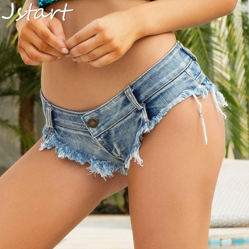 Women Sexy Short Jeans Booty Shorts Hole Denim Autumn Casual Hot Party Bottom Low Waist Women Shorts