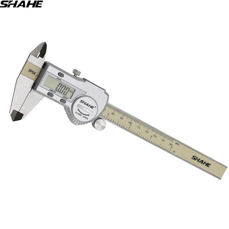 Shahe messschieber digitale messschieber mikrometer digital sattel 150 mm elektronische sattel paquimetro digital