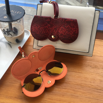 2020 Portable Case PU Leather Sun Eye Glasses Box For Eyeglass Fashion Sunglass Cover New Style Zipper Sunglasses Protection Bag