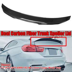 High Kick PSM Style High Kick Real Carbon Fiber F82 M4 Car Rear Trunk Boot Lid Spoiler Wing For BMW F82 M4 2015-2019(China)