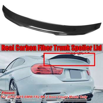 High Kick PSM Style High Kick Real Carbon Fiber F82 M4 Car Rear Trunk Boot Lid Spoiler Wing For BMW F82 M4 2015-2019