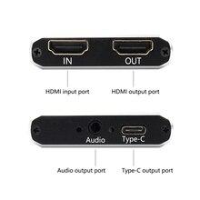 HDMI Карта видеозахвата USB 3,0 type c, HD 1080P 60fps игровой видеомагнитофон для PS3 PS4 tv BOX Twitch OBS Youtube Live Streaming