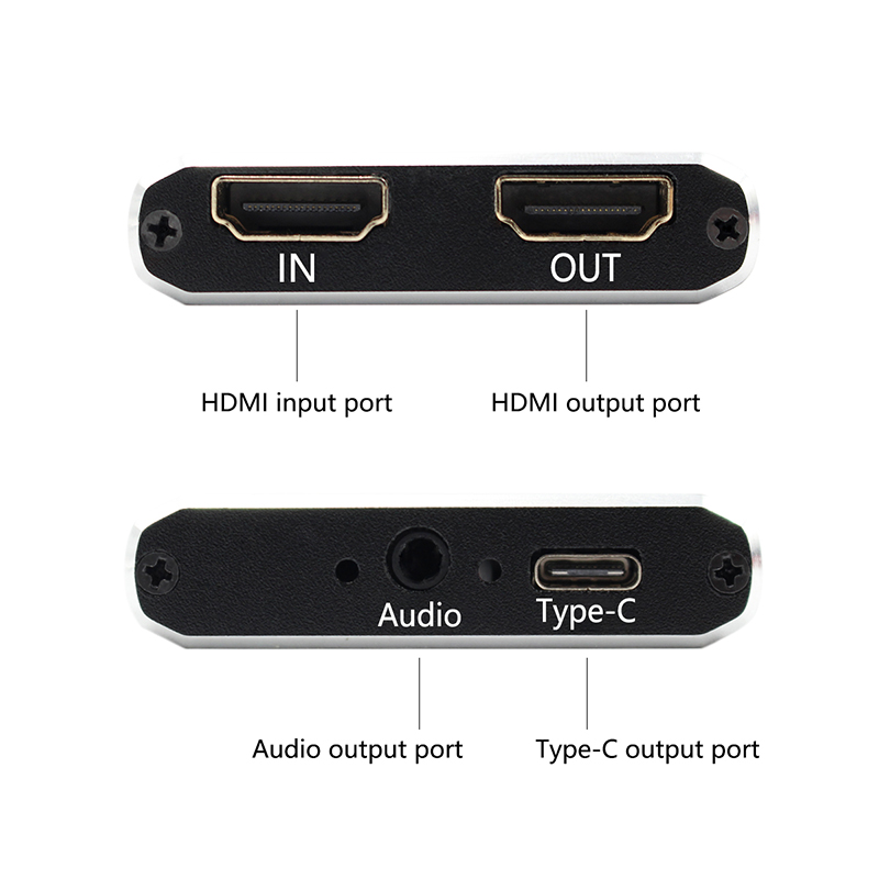 HD Video Recorder HDMI To USB C USB 3.0 TYPE -C  Video Capture Card Device For Winodws Mac Linux Live Streaming
