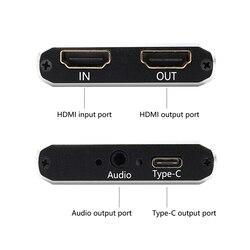 HDMI Scheda di Acquisizione Video USB 3.0 di tipo c, HD 1080P 60fps Video Game Recorder per PS3 PS4 TV BOX Contrazione OBS Youtube In Streaming