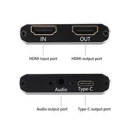 HDMI Video yakalama kartı USB 3.0 tip c, HD 1080P 60fps oyun Video kaydedici için PS3 PS4 TV kutusu Twitch OBS Youtube canlı Streaming