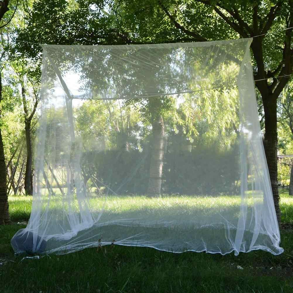 Ponadgabarytowy moskitiera z torbą przenośny odstraszający owad odrzuć siatkę Camping pościel ogrodowa siatka przeciw insektom