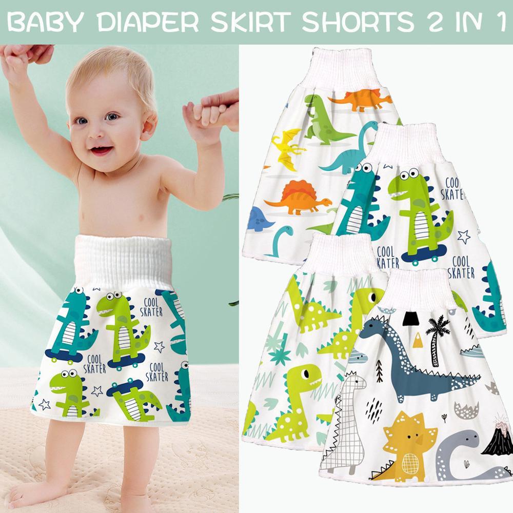 Kid Baby Diaper Skirt Baby Nappy Skirt Infant Children Waterproof Absorbent Shorts Pants Baby Boys Girls Training Skirt Baby Knickers Toddler Underwears High Waist Shorts Baby Sleeping Skirt