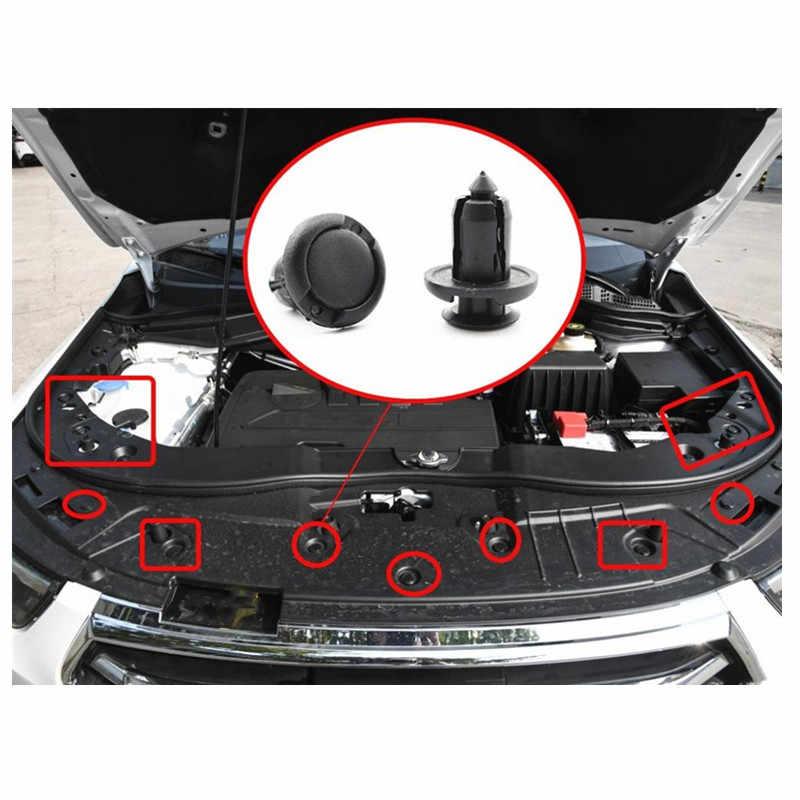 20 adet/takım 8mm 10mm delik plastik tutucu tampon çamurluk perçin Trim motor kapağı paneli klip bağlantı elemanları Honda için civic Accord Fit