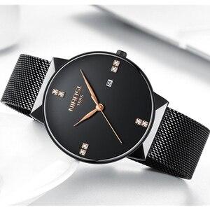 Image 4 - NIBOSI sevgili saati Relogio Feminino su geçirmez erkek ve kadın erkekler saatler 2020 lüks marka zarif kadın saatler paslanmaz