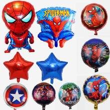 Ballon Spider Man 32 pouces, 50 pièces/lot, décoration de fête, super-héros, anniversaire, fête prénatale pour enfants
