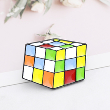 Cute Cartoon Rubik's Cube Brooches For Women Interest Magic Cube Jewelry Enamel Pin Denim Jackets Collar Badge Icon Button Gift цена