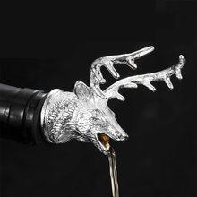 1 шт цинковый сплав в форме головы оленя уникальная пробка для