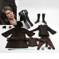Art toys AT012 1/6 Anakin Skywalker Male Head Sculpt &Clothes Set Fit 12'' Doll for collection