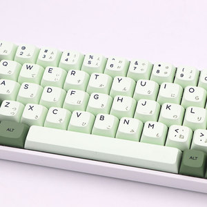 Image 3 - Keypro Matcha Green Ethermal Dye Sublimation fonts PBT keycap For Wired USB mechanical keyboard 124 keycaps