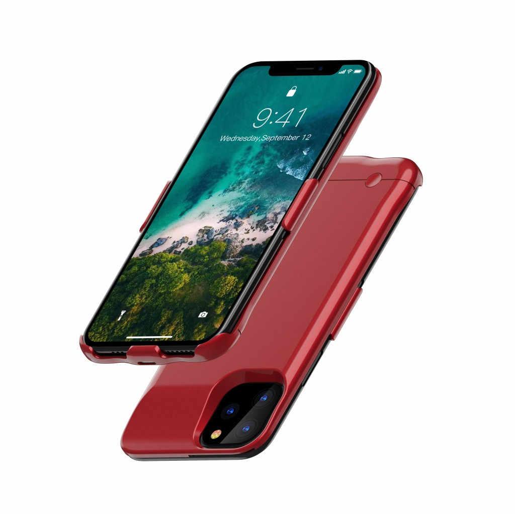 Bateria estendida 6200 mah caso capa de carregamento do telefone para o iphone 11 promax 5.8 polegadas casos & tampas do telefone móvel 2020