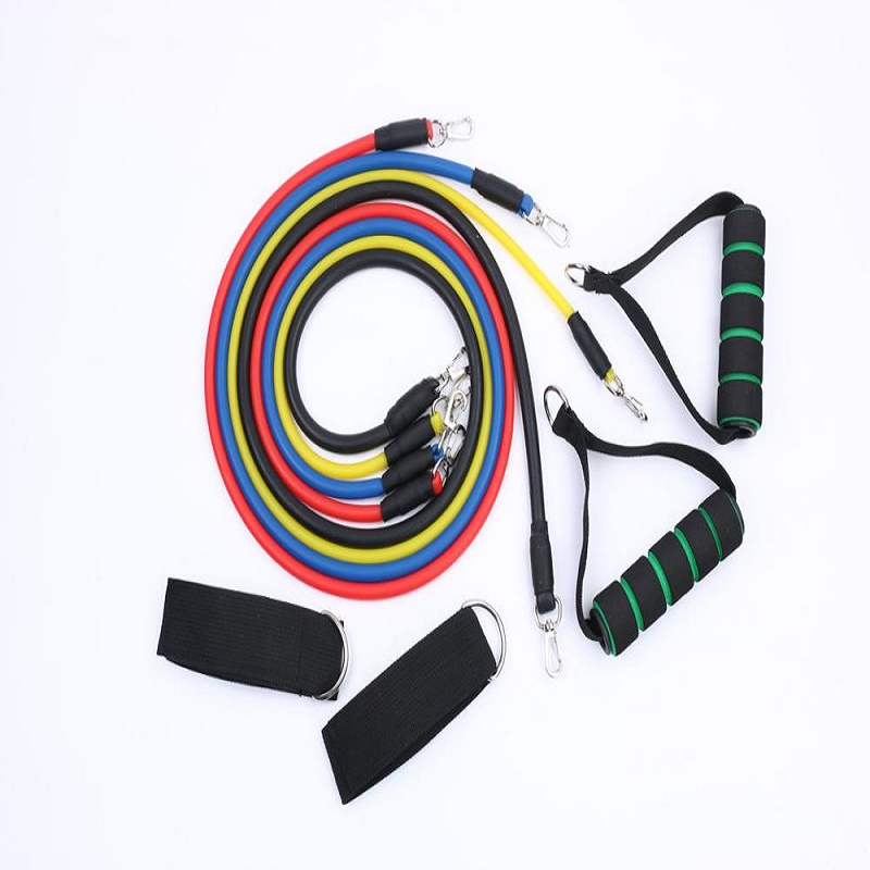 K-STAR 11pcs/Set Training Exercise Latex Resistanceands Tubes Pull Rope Rubber Expander Fitness With Yoga Bag Resibands