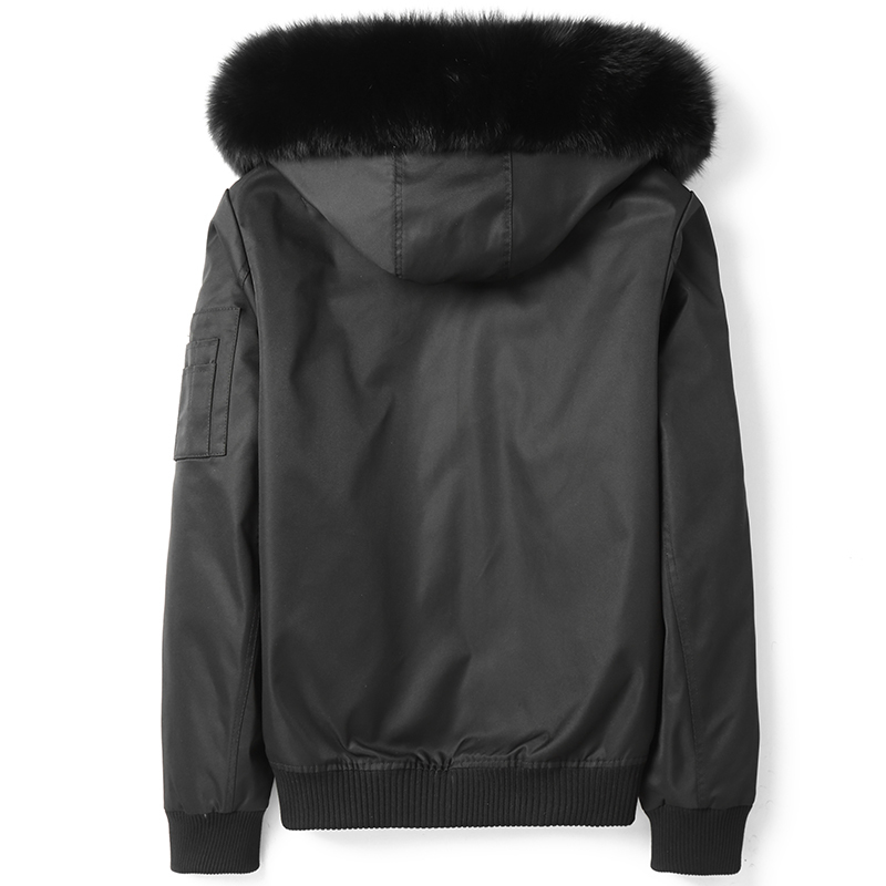 2020 Parka Real Fur Coat Men Winter Jacket Rabbit Fur Liner Fox Fur Collar Hooded Parkas De Hombre D09A9722 KJ3015