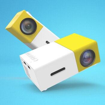 Miniproyector LED YG300 para el hogar, alta definición, compatible con AV, CVBS, HDMI, USB, Interfaces Multimedia, proyector 1
