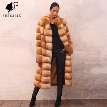 Super Luxury New Whole Skin Natural Real Thick Warm Fox Fur Coats High Quality Handmade Clothing Customized FC-077