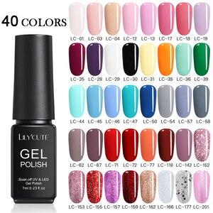 LILYCUTE 20/40 шт./компл. УФ-гель для ногтей набор многоцветных серий Полупостоянный долговечный светодиодный Гель-лак для ногтей