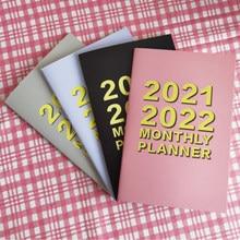 A5 agenda caderno 2021 cuaderno kawaii diário mensal planificateur planificador mensalmente bloco de notas mensalmente planejador 2022