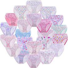 60pcs/LOT Cotton Panties Girls Kids Short Briefs Children Underwear Underpants Suit 1-12Y