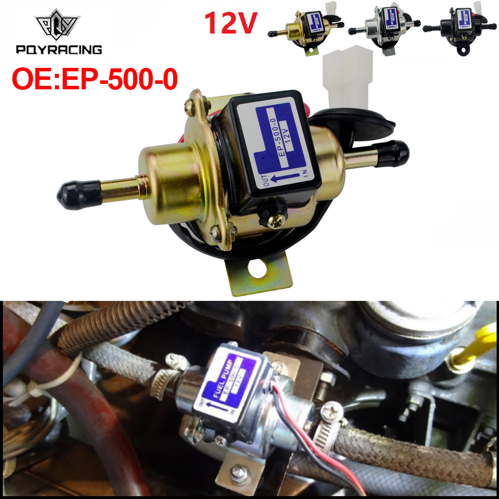 PQY-en kaliteli evrensel dizel benzin benzinli 12V elektrikli araba yakıt pompası EP500-0 EP5000 EP-500-0 035000-0460 EP-500-0