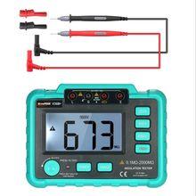 Instrumento elétrico megohmmeter vc60b + testador de resistência de isolamento digital