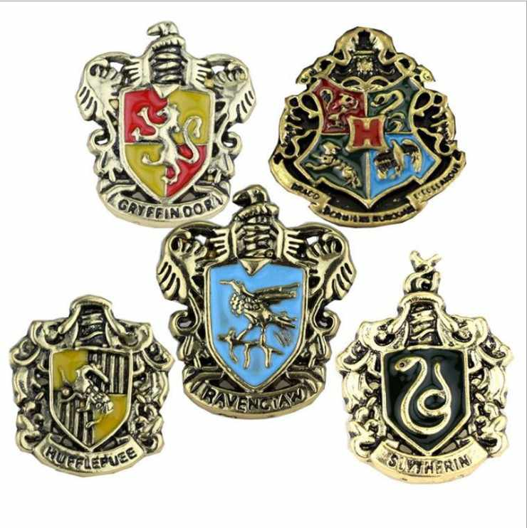 Hot sale harrie potter brooch Clothes bag pin Creative alloy  badge toy for kids