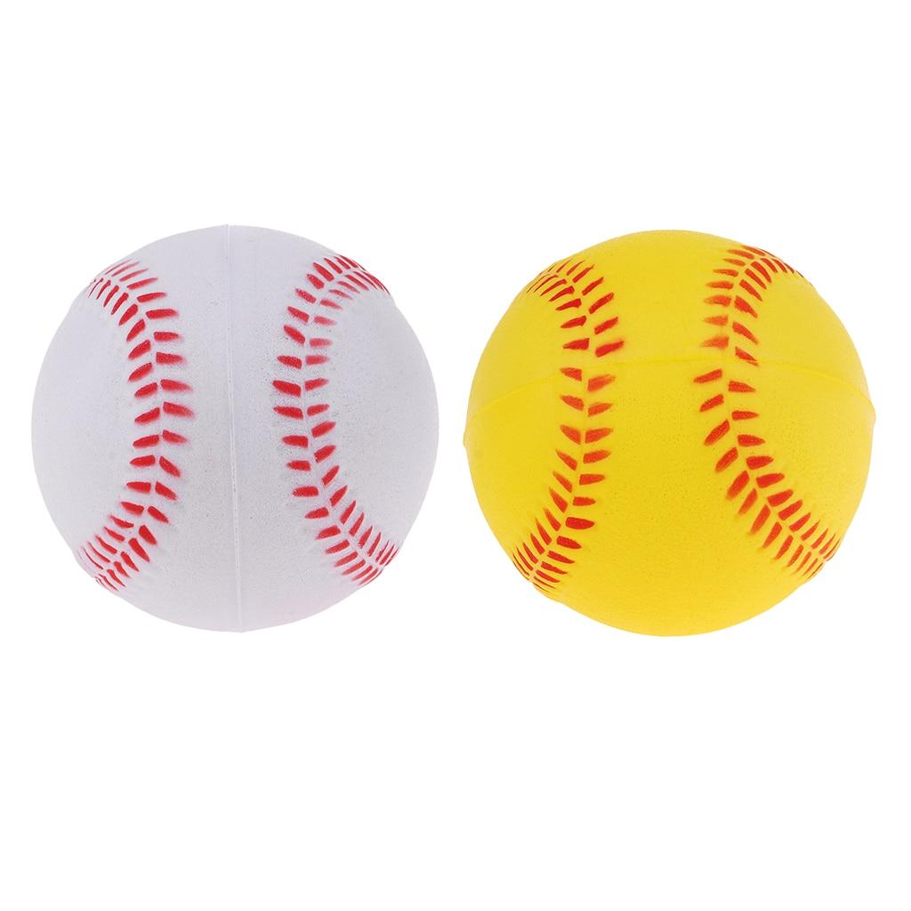 Soft PU Batting Baseball Softball Team Sports Balls For Trainer Practice Exercise Training Equipment - Colors Choose