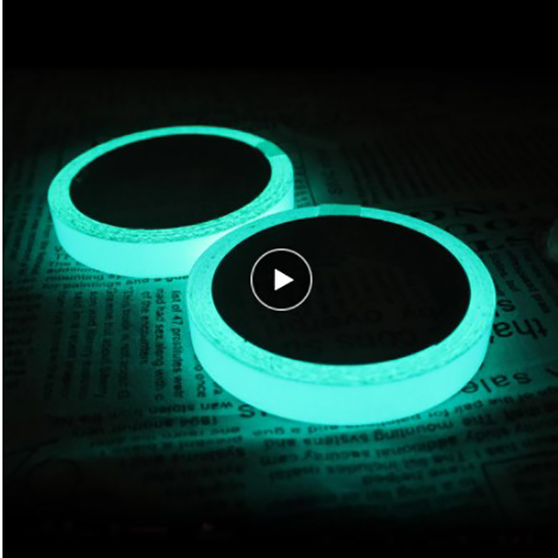 Luminous Tape Glow Tape Safety Sticker Night Self-adhesive Glow In The Dark Sticker Tape Safety Security Home Decoration Warning