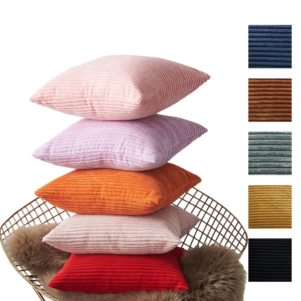 Blue Velvet Cushion Cover Pillowcase Solid Color Yellow Pink Home Decorative Sofa Throw Pillows for Room Happy New YearWholesale