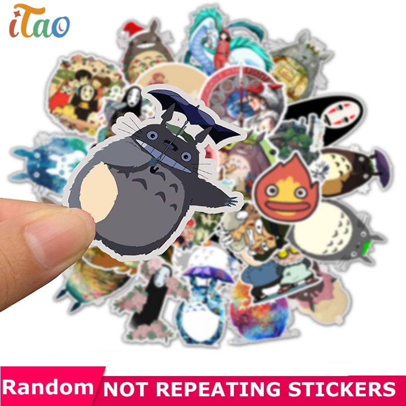 10/20/30/40/50PCS Pack Cartoon Totoro Sticker Waterproof PVC Skateboard Motorcycle Snowboard Guitar Laptop Cool Kid Toy Stickers
