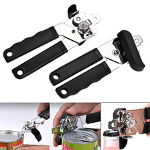 Stainless Steel Cans Opener Professional Handheld Can Opener Side Cut Manual Can Bottle Beer Opener Corkscrew Kitchen Tools