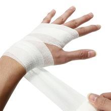 5cm * 4 5m przylepny bandaż elastyczny pierwszej pomocy opieki zdrowotnej leczenie taśma z gazy w nagłych wypadkach taśma mięśniowa pierwszej pomocy narzędzie cheap CN (pochodzenie)