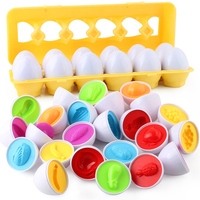 12PCS Montessori Learning Education Math Toys Smart Eggs 3D Puzzle Game For Children Popular Toys Jigsaw Mixed Shape Tools 1