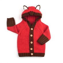 Baby Sweaters Cardigan Newborn Boys Girls Knitted Jackets Coats Autumn Winter Warm Toddler kids Hooded Knitwear Button Up