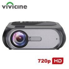 VIVICINE أحدث 720p المحمولة جهاز عرض (بروجكتور) ليد ، الخيار الروبوت المحمولة HDMI USB المسرح المنزلي لعبة فيديو المحمولة العارض متعاطي المخدرات
