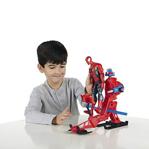 Image 4 - Marvel Legends 30cm Spiderman Toys Set Titan Hero Series Copter Action Figure 11.8 Inches New Year Gifts Toys for Boys
