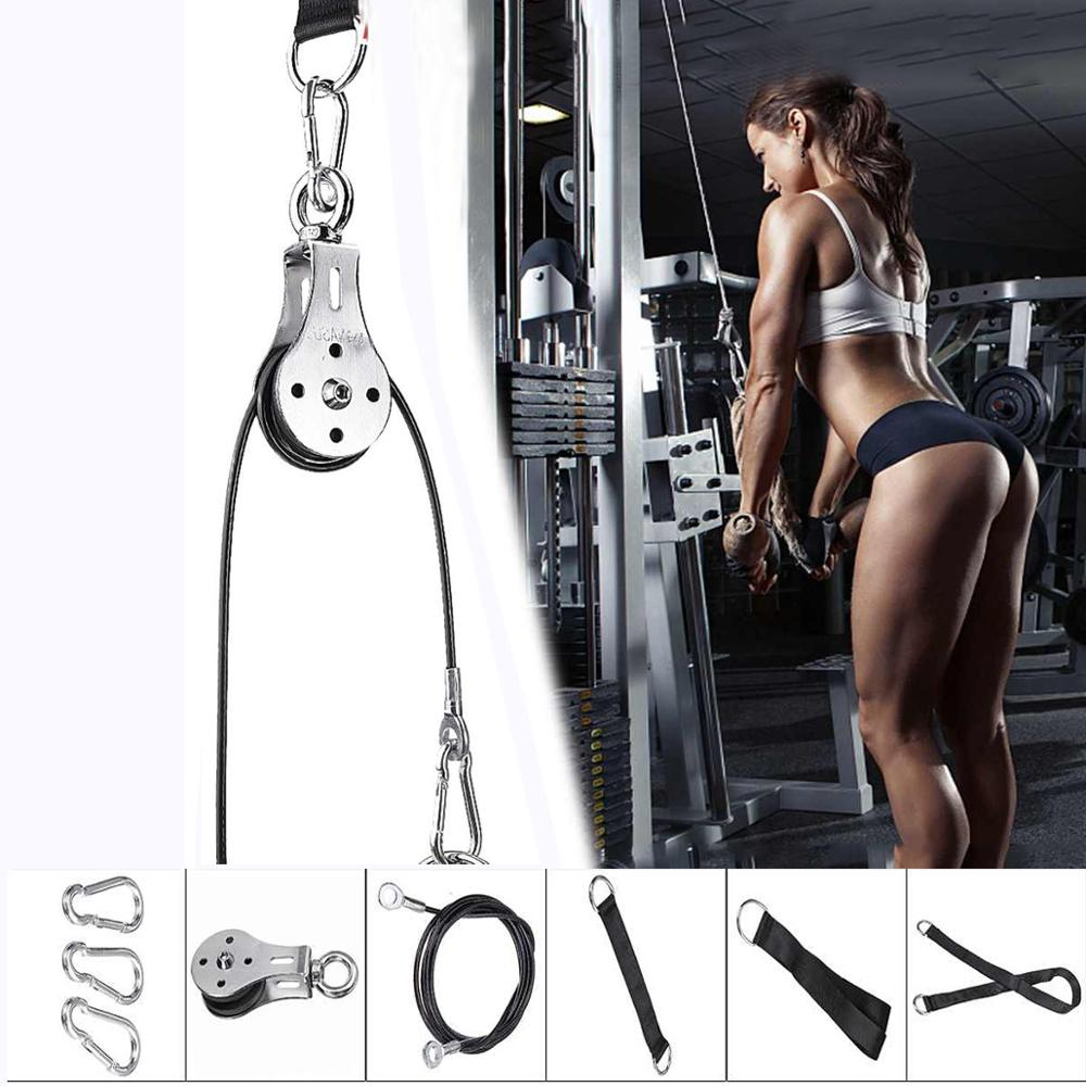 Fitness DIY Pulley Cable Machine Attachment System Arm Biceps Triceps Blaster Hand Strength gym equipment for home bodybuilding| |   - AliExpress